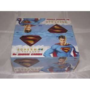 Superman Returns Factory Sealed Trading Card Hobby Box 24 Packs