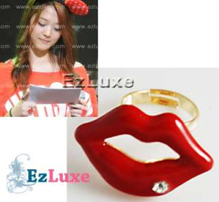 Korean Girl Group Fx F(x) SULLI Red Lip shaped Ring