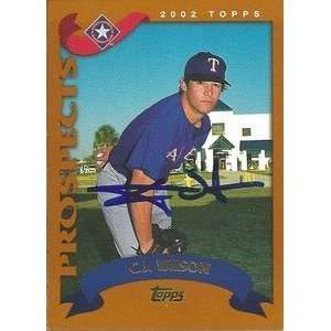 C.J. Wilson Signed Texas Rangers 2002 Topps Traded Card
