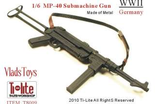 Ti Lite 16 Metal WWII German MP 40 Submachine Gun
