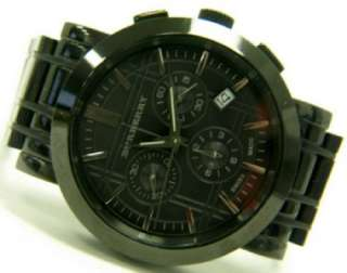 Burberry Mens Black IP Chronograph Watch BU1373 $595