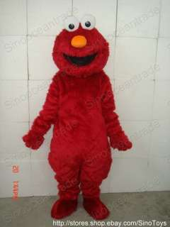 Sesame Street RED ELMO MASCOT COSTUME SUIT FANCY DRESS