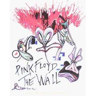 Pink Floyd   The Wall Logo with Crazy Insect (On White
