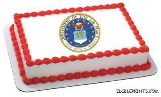 Air Force Emblem Edible Image Icing Cake Topper