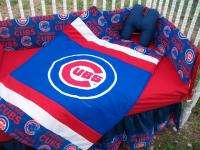 NEW baby crib bedding set m/ CHICAGO CUBS MLB fabric