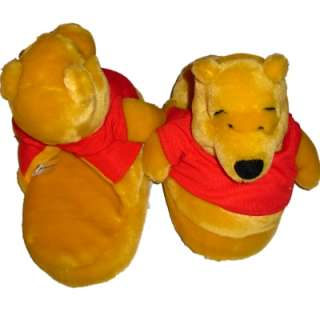 Girls Soft Plush Winnie the Pooh House Slippers bear
