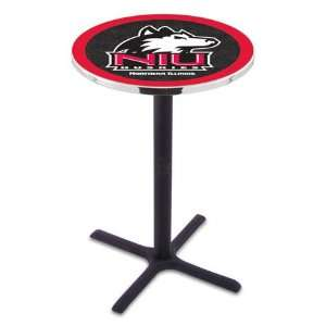 Illinois Bar Height Pub Table   Cross Legs   NCAA