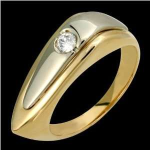 Twii   Fabulous 14k Two Tone Gold Diamond Ring   Custom Made. Jewelry