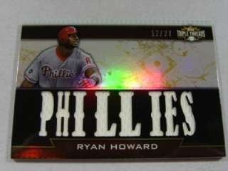 2011 Topps Triple Threads Ryan Howard Jersey /27