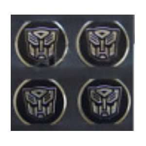 Transformer Autobot Camaro Chrome/Black Wheel Decal Emblems