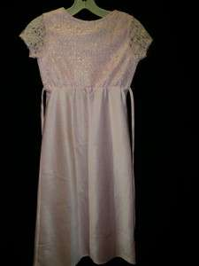 Rose Cottage Dress size 8 girls childs pink flower girl outfit clean