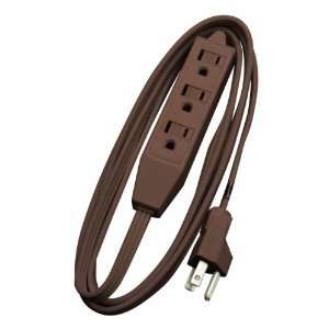Woods 608 8 Foot Cube Extension Cord with Power Tap, Brown