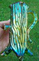 ELECTRIC GREEN CARNIVAL GLASS TOWN PUMP GRACE RINEHART COLLEC