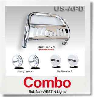 Combo94 02 Dodge Ram 2500 Bull Bar S/S+Westin Light
