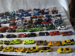 100 HOTWHEELS & MATCHBOX CARS & TRUCKS VERY NICE CARS (lot b)
