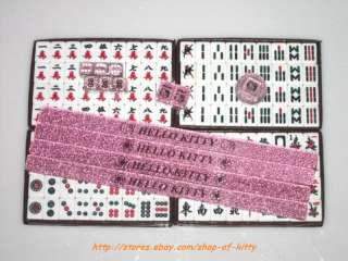 Sanrio Hello KITTY Mini Size Portable Mahjong Game Set
