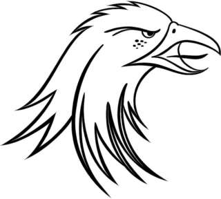 Eagle Head Large Vinyl Decal Car Truck Window Sticker 2