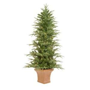 6 Pre Lit Potted Frasier Artificial Christmas Tree With