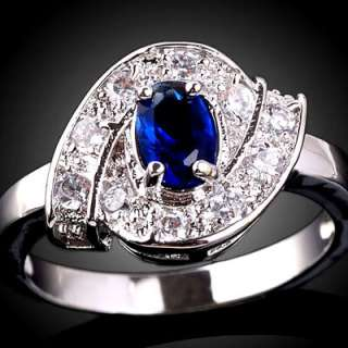 Oval Stone Nice Fit Lady Fashion Ring Clear Crystal Embed JA057