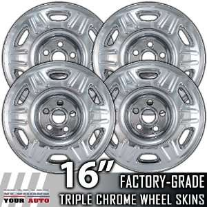 05 06 HONDA CRV 16 Chrome Wheel Skin Covers Automotive