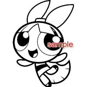 POWERPUFF GIRLS BLOSSOM WHITE VINYL DECAL STICKER