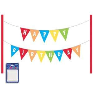 Happy Birthday Cake Banner Kit with Candles