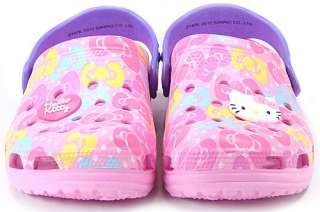 Kitty crocs Sandals★Kids/Girls Flip Flops Pool Beach Shoes Pink