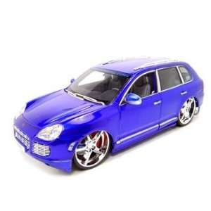 Porsche Cayenne Turbo Playerz 118 Blue Diecast Model