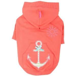 Pinkaholic New York Sunny Day Hooded Shirt for Dogs, Orange, XX Large