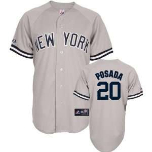 Youth 2010 Majestic Road Grey Replica #20 New York Yankees Jersey