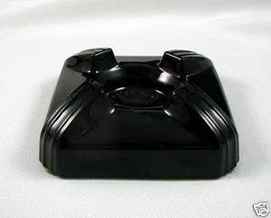 Black Amethyst Glass INKWELL BASE Only SWIVODEX