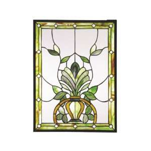 Dale Tiffany SC0079 Maberley Art Glass Window Panel , 18