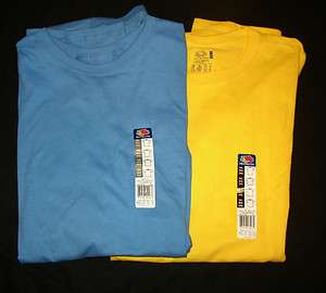 NEW MENS FRUIT OF THE LOOM SHORT SLEEVE T SHIRT BLUE OR YELLOW XL 3X