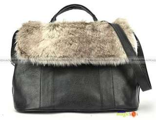 Women Fashion Vintage Faux Fur Handbag Crossbody Shoulder Bag New