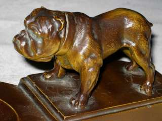 BULLDOG ART STATUE SCULPTURE BOWL TRAY ASHTRAY NUART DECO DISH