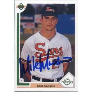 Mike Mussina Autographed/Signed 1991 Upper Deck Card