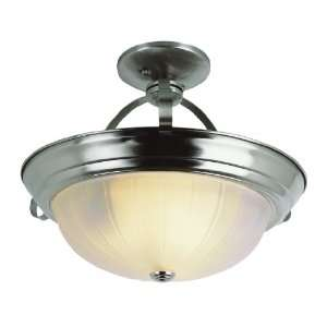 Trans Glob Lighting 13215 BN 3 Light Semi Flush Ceiling Light, Brushed