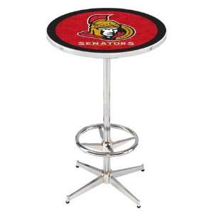 36 Ottawa Senators Counter Height Pub Table   Chrome Base with