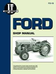 Ford Tractor Shop Manual FO19A Ford Model NAA