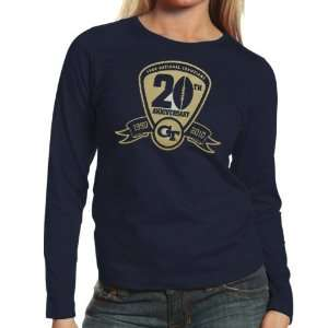 Tech Yellow Jackets Ladies Navy Blue 1990 NCAA Division 1 Football