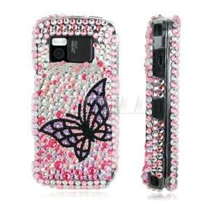 Ecell   BLACK BUTTERFLY 3D CRYSTAL BLING CASE FOR NOKIA