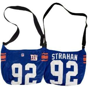 New York Giants #92 Michael Strahan Jersey Tote   15x4