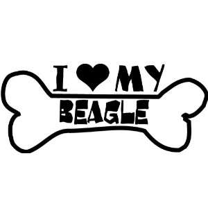 I Heart My Beagle Car Decal Window Sticker Everything