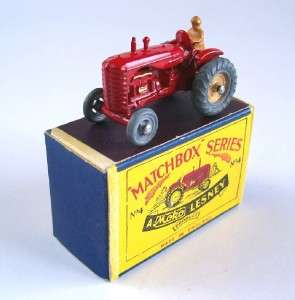 MATCHBOX MOKO LESNEY 4 MASSEY HARRIS TRACTOR,1953, MIB