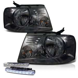 Eautolight 2004 2008 Ford F150 Smoke Head Lights Lamps + LED Bumper
