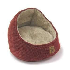 Precision Pet Hooded Cat Bed   Dark Rust Bump Chenille