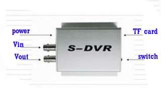 Small Motion Detection CCTV Camera Video Recorder DVR