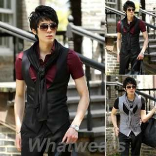 Mens Slim Fit Vest Jacket Waistcoat 2 Color 3 Size J28