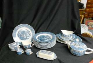 ives royal china set blue 75 dishes plates lincoln park emporium