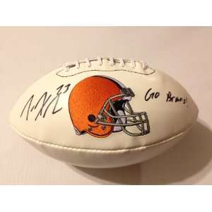 Cleveland Browns JOE HADEN Signed Autographed Logo Football INSC. Go